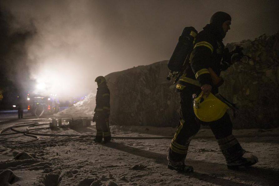 Ruskossa syttyi paperinkierrätyslaitos.