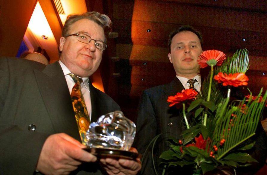 Armas Kristo(vas.)  ja hänen poikansa Jukka olivat Lapin kovatuloisimmat.