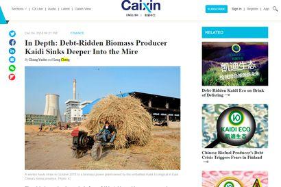 Talouslehti Caixin: Kiinan hallinto ei ehk? pelasta Kemiin miljardijalostamoa suunnittelevaa Kaidia