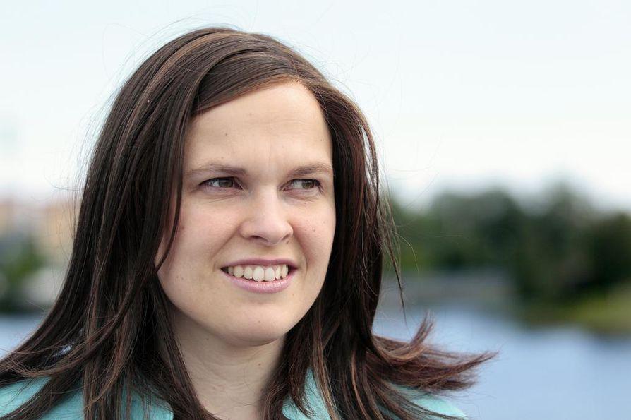 Mari-Leena Talvitie oli Oulussa kokoomuksen ääniharava.