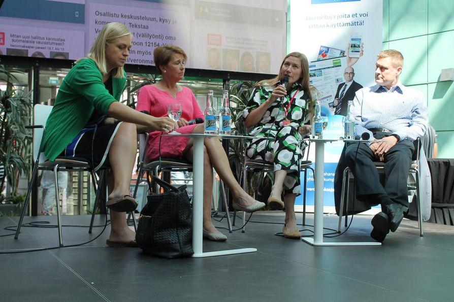 Verotuksen toivottiin olevan muun muassa ennustettavaa ja kevyempää keskustelussa, jossa olivat mukana Elina Lepomäki, Leena Vainiomäki, Merja Mähkä ja Teemu Lehtinen.