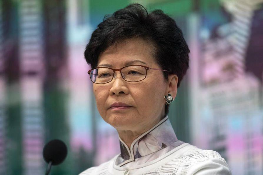 62-vuotias Carrie Lam on ollut Hongkongin ykkösjohtaja heinäkuun alusta 2017.