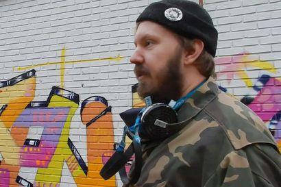 Tomi Rajala iloitsee siitä, että arvostus graffititaiteeseen on noussut