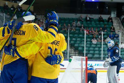 """Ruotsi kyykytti Pikkuleijonat MM-pronssiottelussa 8-0: """"Tulos vie sanat suustani"""""""