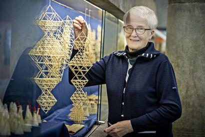 Kun olkea osaa käsitellä oikein, se taipuu vaikka mihin–sen todistaa Oulun kaupunginkirjastossa esillä oleva himmelitaituri Elsa Pietikäisen näyttely