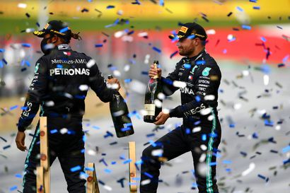 Hamilton voitti historiallisen F1-kisan, Bottas täytti vähimmäisvaatimuksen – Räikkönen jäi pistesijojen ulkopuolelle