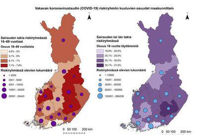 Posion väestöstä lähes 40 prosenttia kuuluu koronaviruksen riskiryhmään - riskiryhmäläisten osuudessa suurta vaihtelua kuntien välillä Koillismaalla ja Suomessa