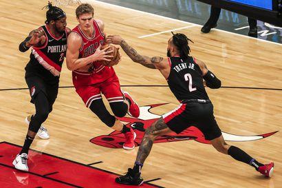Chicago Bulls hävisi kotiottelussa pisteellä Portlandille – Markkanen heitti 31 pistettä