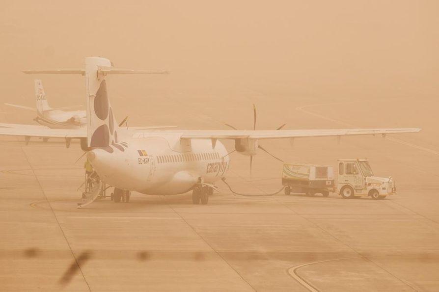 Gran Canarialla lentoliikenne jälleen keskeytetty.