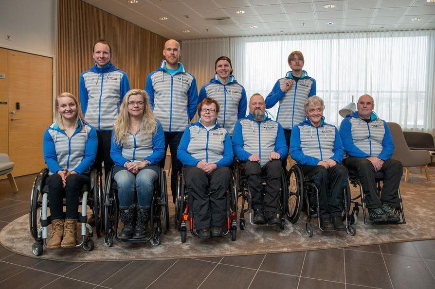 Joukkueessa on 13 urheilijaa. Tässä heistä osa:  Rudolf Klemetti (ylhäällä vasemmalla), Juha Härkönen, Matti Suur-Hamari ja Matti Sairanen,  Sini Pyy (alhaalla vasemmalla), Sari Karjalainen, Riitta Särösalo, Markku Karjalainen, Vesa Leppänen ja Yrjö Jääskeläinen.