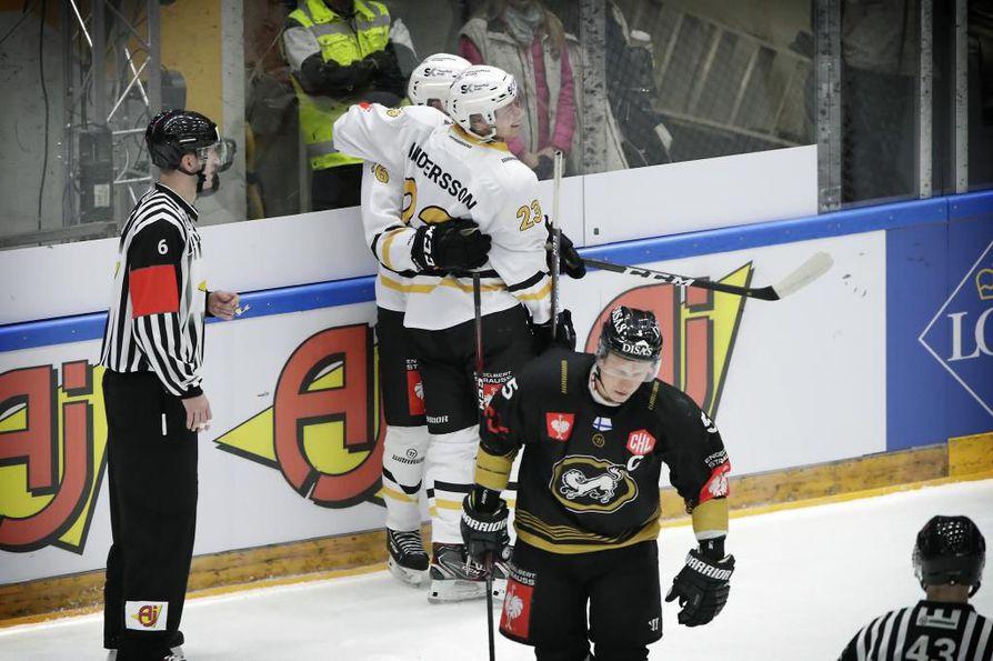 Kärppien voitto Skellefteåta vastaan pelatussa ottelussa tiistaina ei riittänyt jatkopaikkaan Mestarien liigassa.