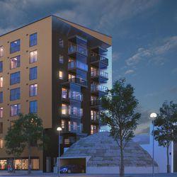 Toimiva tehokolmio komeilla maisemilla löytyy aseman uudesta maamerkistä – Origoksi nimetty 16-kerroksinen asuintorni rakentuu pohjoisen alikulkukäytävän kupeeseen