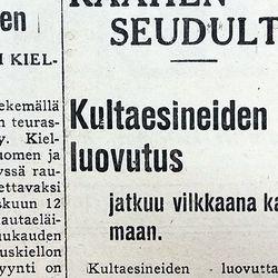 Vuosien takaa: 80 vuotta sitten kultasormukset vaihtuivat rautasormuksiin
