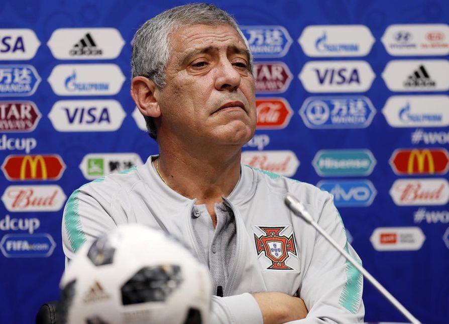 Portugalin jalkapallomaajoukkueen päävalmentaja Fernando Santos.