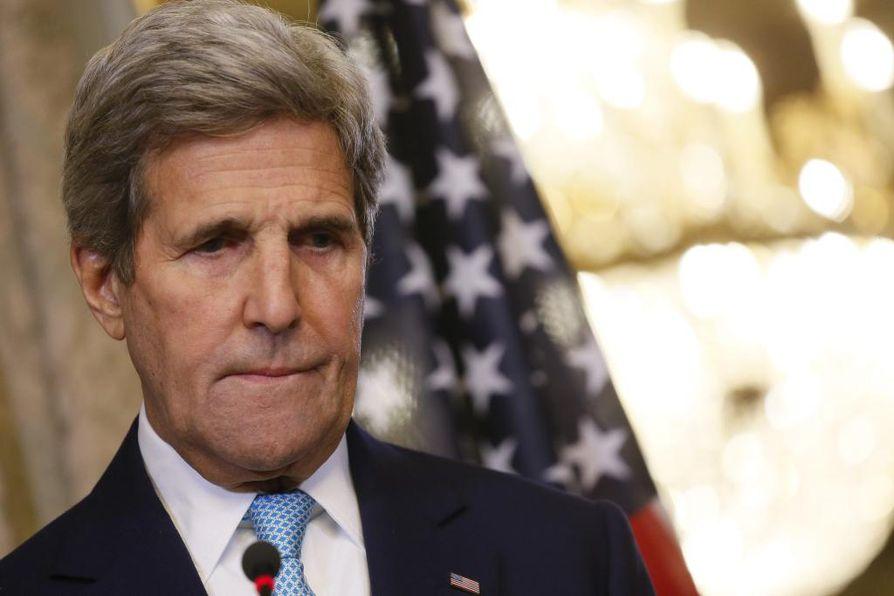 Yhdysvaltain ulkoministeri John Kerry vierailee Belgiassa.