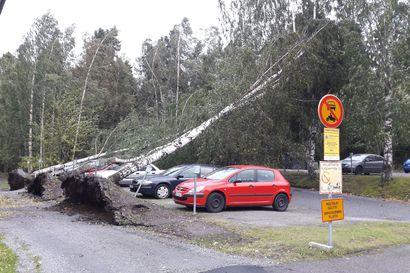 Sähköttä lähes 77 000 kotitaloutta Suomessa – Aila-myrsky on pysäyttänyt junaliikennettä ja useat vuorot ovat myöhässä