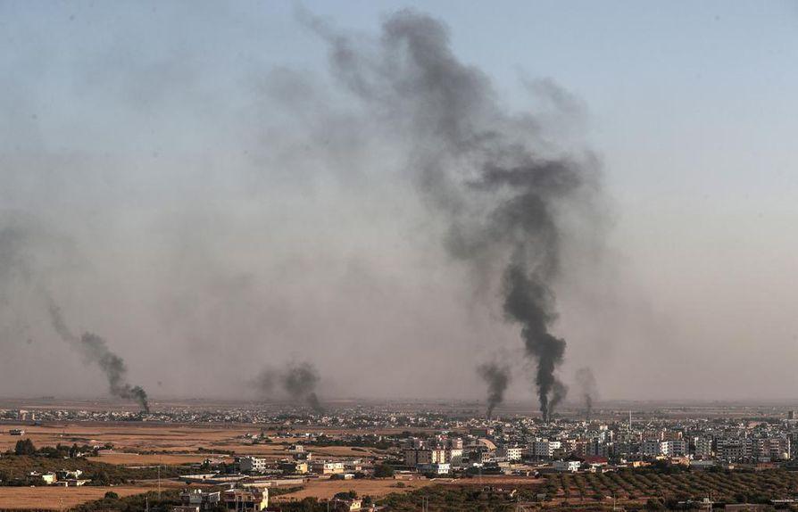 Turkki on pommittanut muun muassa Ras al-Ainin kaupunkia Syyrian kurdialueella.