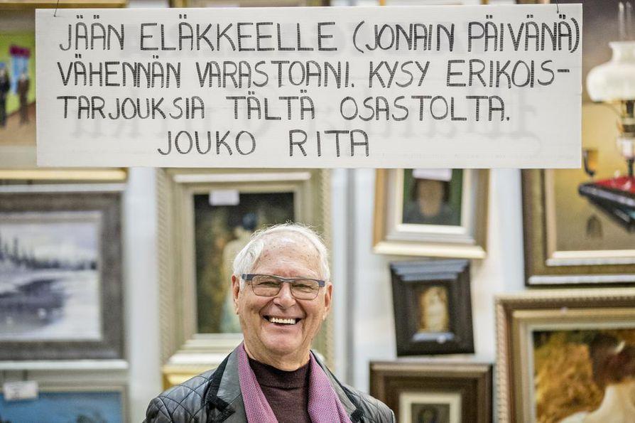 Tamperelainen taidekauppias Jouko Rita on myynyt taidetta yli 50 vuoden ajan. Häntä tituleerataan maan vanhimmaksi taidekauppiaaksi sekä fyysiseltä että virkaiältään.