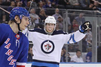 """Patrik Laineen Winnipeg antoi kyytiä Miro Heiskasen Dallasille: """"Jets oli meitä parempi kaikessa"""""""