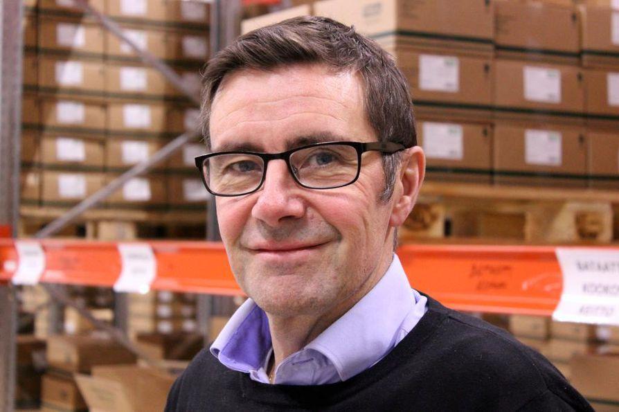 Jukka Ojala arvioi, että Feelian uudessa tehtaassa riittää tilaa 30 miljoonan euron liikevaihtoon asti.