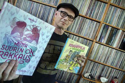 """Sarjakuvakonkari Pauli Kallion uudessa rakkausaiheisessa albumissa osa on totta ja osa keksittyä: """"Säilytän vapauden muokata ja väännellä tarinoita ja toimia taiteen ehdoilla"""""""