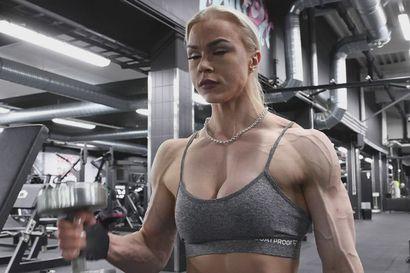 Paula Ranta harjoittelee.