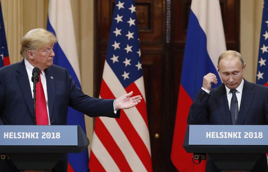 Donald Trump ja Vladimir Putin tapasivat Helsingissä heinäkuussa.