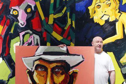 Kirkkaita värejä ja kiehtovia tarinoita – Hannu Lukinin näyttely Sammakkoprinsessa on esillä Kemin taidemuseossa