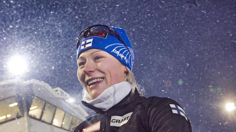 Anne Kyllönen (kuvassa) otti kauden kolmannen SM-kultansa 44,9 sekunnin erolla Laura Monoseen. Arkistokuva.