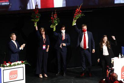SDP:n varapuheenjohtajat valittu: Niina Malm, Ville Skinnari ja Matias Mäkynen
