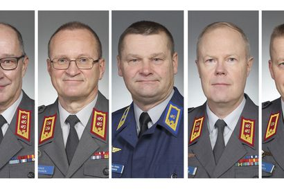 Kenraalikunnassa viisi ylennystä