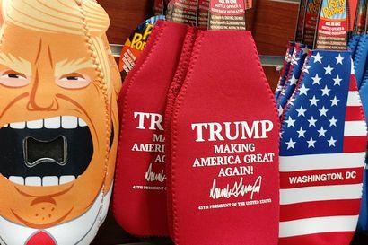 """Toimittajamme Washingtonissa: """"Moni sanoo, että Trump-suklaasta tulisi paha olo"""" – Valkoisen talon matkamuistojen myyjä ei halua Yhdysvaltojen kansalaisuutta"""
