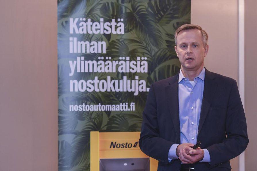 S-ryhmän talous- ja rahoitusjohtaja Jari Annala piti tiistaina tiedotustilaisuuden Helsingissä.