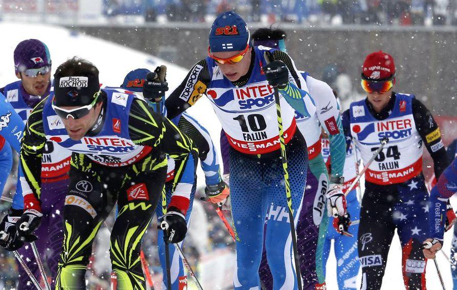 Matti Heikkinen sijoitus Falunin MM-kisojen 50 kilometrin kisassa oli 20:s.