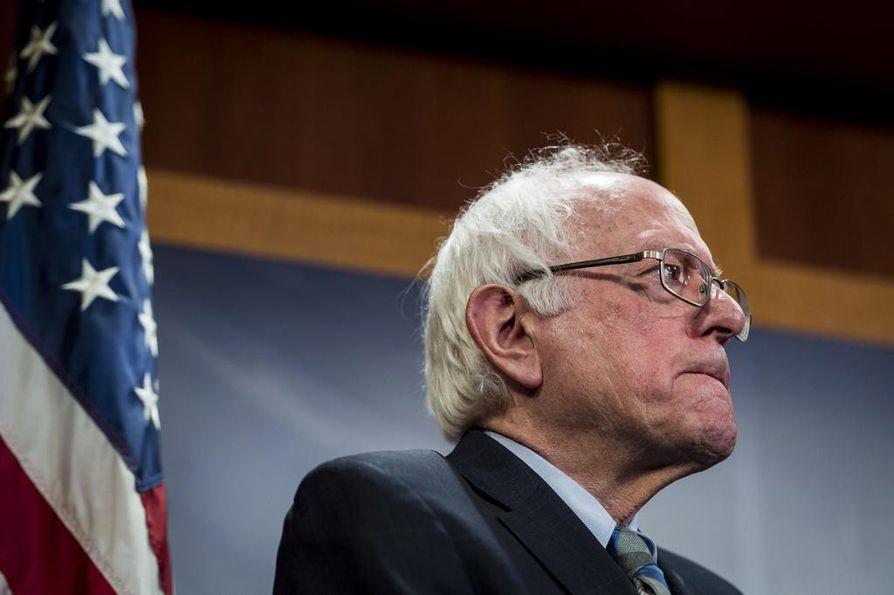 Bernie Sanders haastoi Hillary Clintonin demokraattien presidentinvaaliehdokkaana vuonna 2016