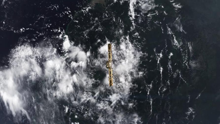 Intiasta lähetettyyn suomalaiseen ICEYE-X1-satelliittiin saatiin yhteys perjantaiaamuna. Kuva: Iceye Oy.