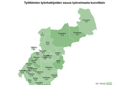 Siikajokivarren työttömyystilanteessa vuodessa pieni muutos – joulukuussa Pohjois-Pohjanmaan pienin työttömyysaste Reisjärvellä
