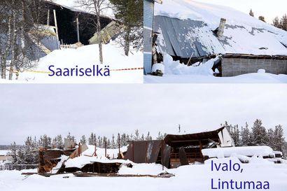 Moni katto on kantanut tänä talvena liian raskasta taakkaa ja romahtanut Lapissa – yksi vika voi olla rakennusmääräyksissä