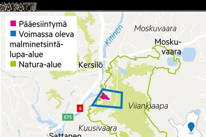 Vuotovahinkoja Sakatin työmaa-alueella Sodankylän Kuusivaarassa, Natura-alueen ulkopuolella