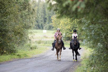 """Rusliinan päivän palkkana on pesu, raikas vesi ja kasa heinää, kun Ritva Lampinen taittaa taivalta läpi Suomen ratsastaen – """"Aina välillä tulee tämmöisiä ideoita"""""""