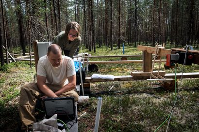 Keskellä kansallispuistoa yli 200 mittauslaitetta seuraa maailman muutosta Kuusamossa – ilmastotutkijat tekevät pitkää urakkaa, jonka ansiosta tiedämme jääpeitteen hupenemisesta