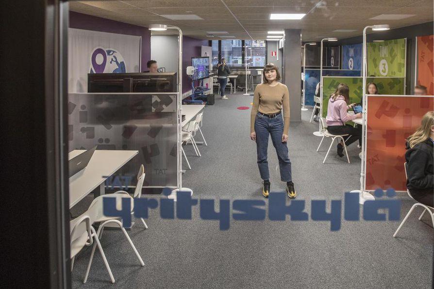 Yläkoululaisten Yrityskylä löytyy  BusinessAseman tiloista.