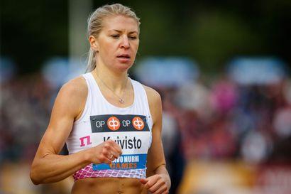 Sara Kuivisto jäi sadasosia tavoitteestaan – Mari Järvenpään 600 metrin SE-aika pelastui 21 sadasosan turvin