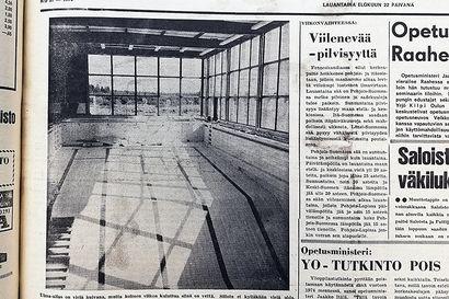Vuosien takaa: Uimahallin valmistumisesta kohta 30 vuotta
