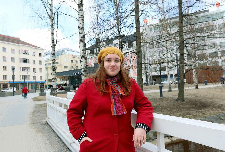 Kilpailun voittaja Maria Beslic Oulusta.