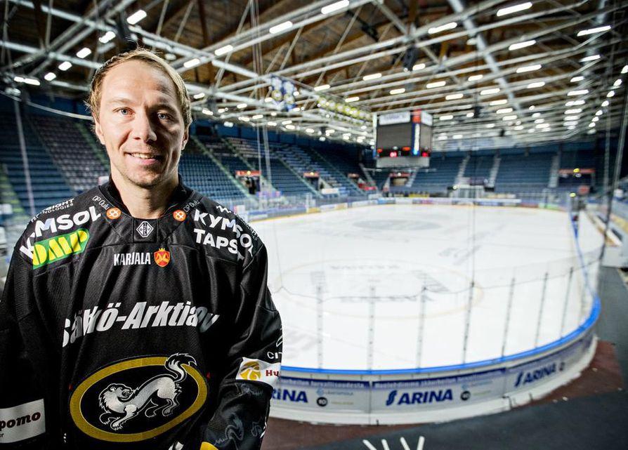 Jussi Jokinen pelaa perjantaina all stars -ottelussa Lahdessa.