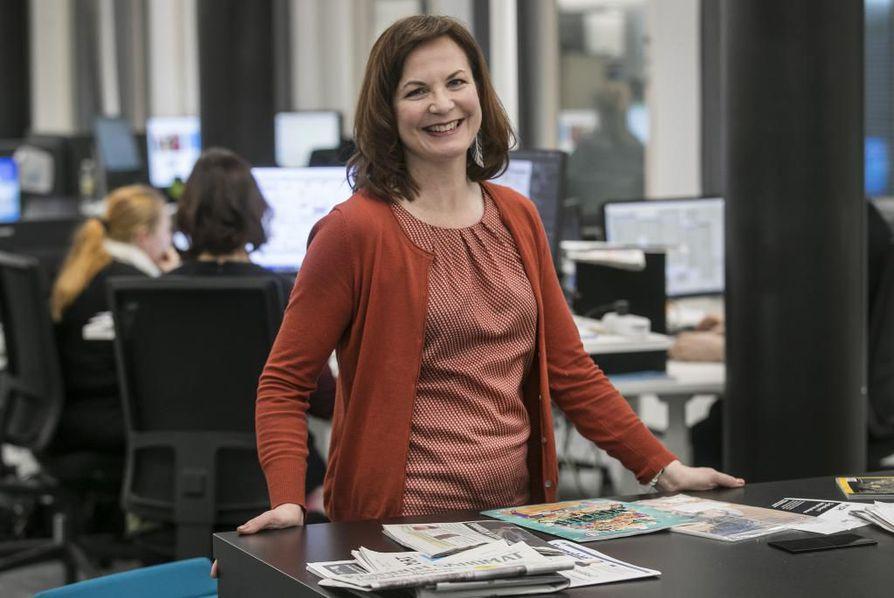 Kalevan uusi päätoimittaja Sanna Keskinen on aikaisemmin työskennellyt muun muassa Oulun kaupungin viestintäjohtajana.