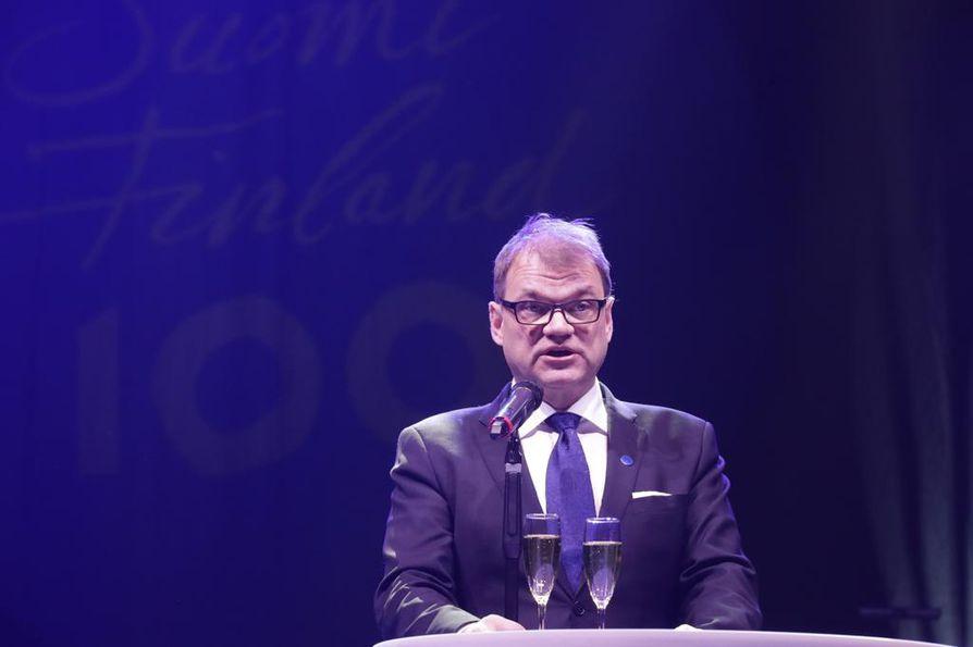 Juha Sipilä korosti puheessaan sitä, kuinka tärkeää on se, että Suomi 100 -pääjuhla järjestetään pohjoisessa Suomessa.