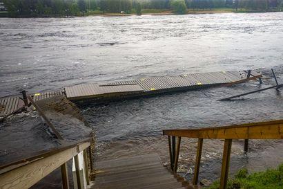 """Kemijoen Helmen kotilaituri unohtui jokeen suurtulvan armoille – """"Tilanne näyttää rujommalta kuin se onkaan"""""""