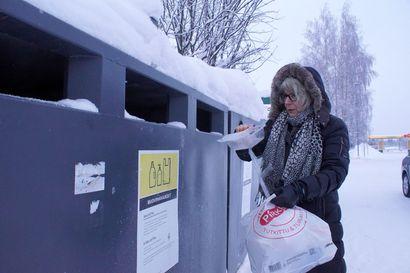 Kotitalouksien pakkausmuovin saa nyt kierrätykseen Pudasjärvelläkin – lajittelumahdollisuus otettiin iloisesti vastaan